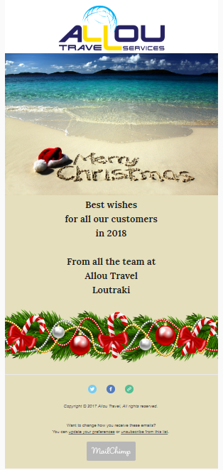 Allou Travel Christmas Newsletter